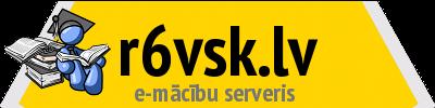 Logotips Rīgas 6. vidusskolas Moodle e-mācību vietne